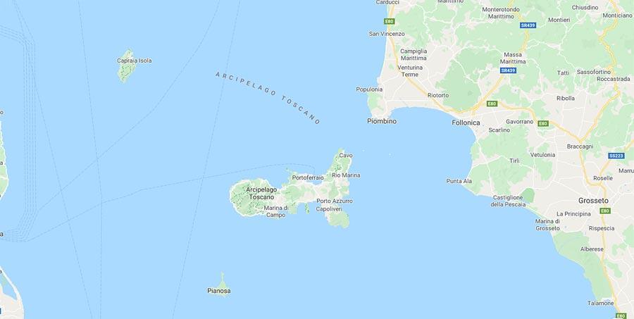Mappa Isola d'Elba